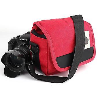 Canvas shockproof camera bag hunter camera bag for canon sony camera storage bag