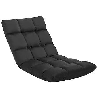 vidaXL chaise de plancher pliable noir microfibre