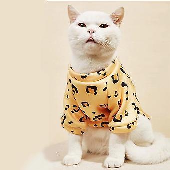 الحيوانات الأليفة الملابس الكرتون الخريف والشتاء الملابس القط ملابس الحيوانات الأليفة
