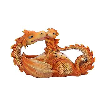 Figurina drago momento più dolce arancione