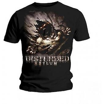 Disturbed Asylum Mens Black T Shirt X-Large