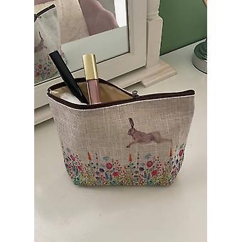 Dames portemonnee met bloem en haas ontwerp
