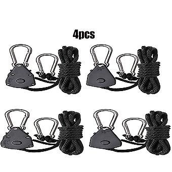 4pcs 1/8 Inch Heavy Duty Adjustable Grow Light Ratchet Rope Hanger Yoyo For Grow Light Fixtures Gardening