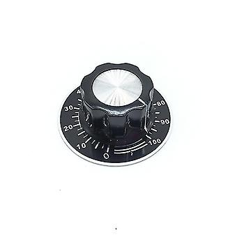 new 6.4mm knob and plate mf a03 potentiometer knob cap scale plate sm41941
