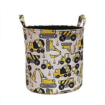 Cartoon Cars Print For Toys Home Organizer Folding Laundry Basket For Dirty Clothes Pouch Household