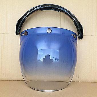 Motorcycle Helmet Bubble Visor Flip