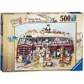 Ravensburger Crazy Cats on the Coach Trip  Jigsaw Puzzle (500 Pieces)