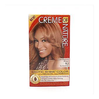 Permanent Dye Argan Color Creme Of Nature Light Caramel Brown 9.2