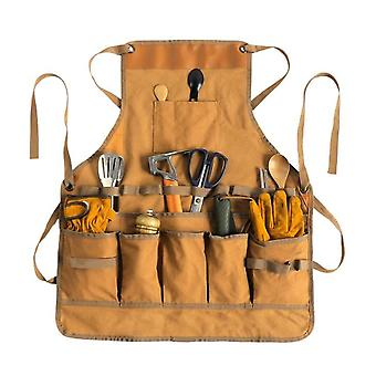 Outdoor cooking aprons multifunctional camping garden tool apron canvas unisex multi-pocket tool apron for woodworking painting