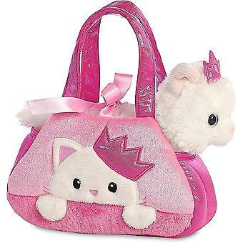 Aurora, 32791, Fancy Pal, Peek-A-Boo Kätzchen mit Krone, 20cm, Plüschtier, pink/weiß