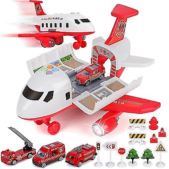Car Toy Set Cargo Plane Transport Airplane Toys Birthday Party Favor Gift(Red1)