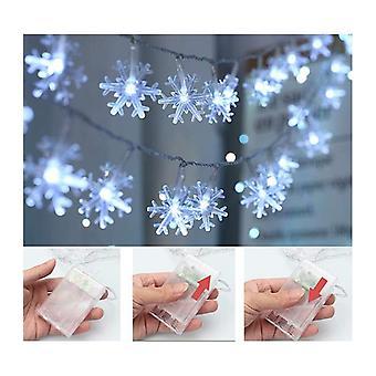 Led Snowflake Decoração Corda Luz de Fada para O Natal Quarto Jardim Festa De Natal Natal