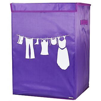 Jocca Purple foldable laundry basket