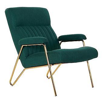 Fåtölj DKD Home Decor Grön Polyester Metall (69 x 90 x 90 cm)