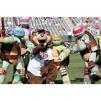 Kuuluisa Ninja Turtles maskotti REDBROKOLY.COMs Turtles Sarjakuva