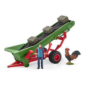 Farm World Hay Conveyor met Farmer Toy Playset
