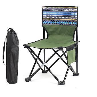 Camping Stool Portable Folding Stool for Outdoor Beach Hiking Fishing(60x34.5x34.5cm)(Green)