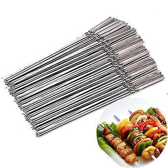 Gafflar återanvändbara platt rostfritt stål grillspett nålstick
