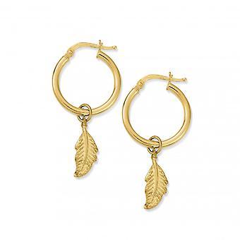 ChloBo Gold Didi Feather Hoop Earrings GEH724