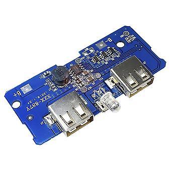 DC 5v/2a Power Bank töltő áramköri modul tábla kettős USB kimenettel 1a
