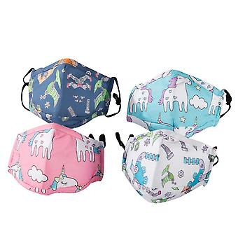 4 Pack Kids Face Mask Reusable With Adjustable Earloops Gift