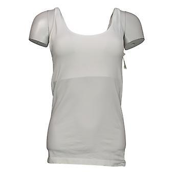 Rhonda Shear Plus Shaper Sem costura Tanque w/Prateleira Bra White Shapewear 586034