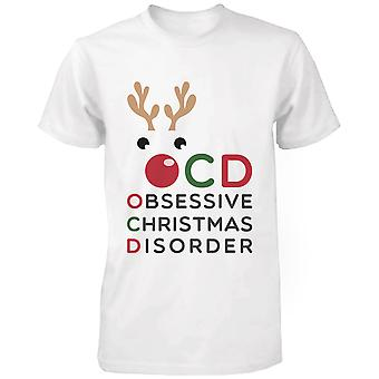 Obsessief kerst stoornis witte katoenen T-t-shirt-Funny X-mas Graphic Tee