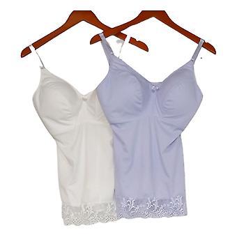 Rhonda Shear Camisole 2-pack Pin Up w/ Lace Trim Purple Chemise 650230