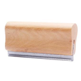 Deshedding Grooming Tool, Professionel Pet Træ Groomer, Ergonomisk Design Hund Comb  Hund Kamme