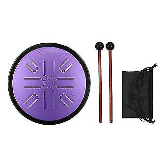 Drum kits 10 inches steel tongue drum 8 notes handpan drum travel drum percussion instrument with mallets