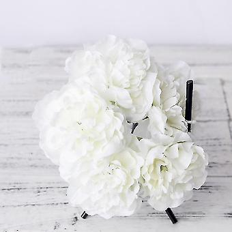 Artificial flora artificial faux peonies for home decor and events set up white