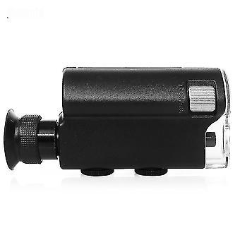 Telescopes hot sell mini portable microscope pocket 140x~240x handheld led lamp light loupe zoom magnifier