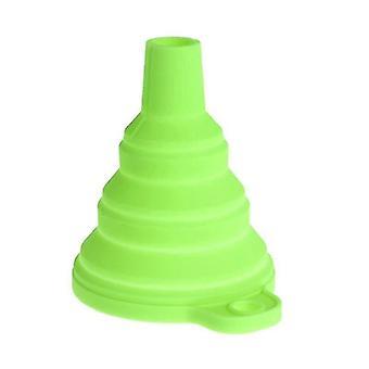 القمع مصغرة قابلة للطي الإيكولوجية صديقة سيليكون الغذاء آمن قمع الأخضر