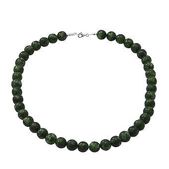 TJC grün Jaspis Perle String Halskette in Silber Geschenk für Frau/Mutter 18 '' 320ct