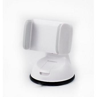 Soporte universal para teléfono móvil en el automóvil Tablero de instrumentos Montaje de succión del parabrisas (blanco + gris)