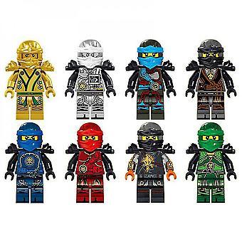 Belita Amy 8pcs Ninjago Motorcycle Set Minifigures Mini Figures Blocks Ninja Toy