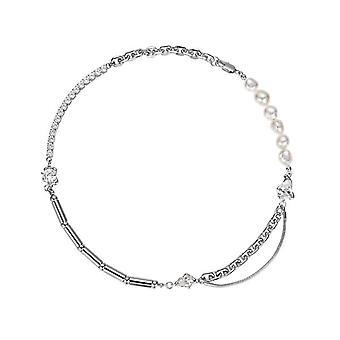 Niche Zircon Pearl Chain Stitching Necklace Cold Style Design Unique Clavicle Wild Trend Jewelry Female Accessories
