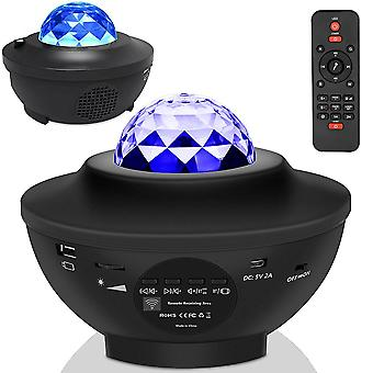 Usb  Star Night Light  With Music And Sound-activated Projector