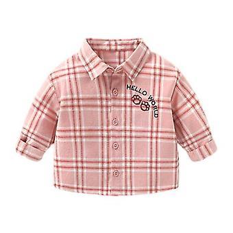 Baby Plaid Camisa camisa de manga comprida