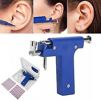 Erwachsene Ohr Körper Piercing Gun Tool Ohr Nase Nabel Gun Maschine mit 98pcs Studs Kit