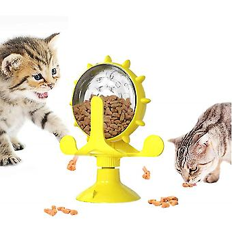 Qian Windmill Cat Toy, Nteractive Toy Slow Feeder