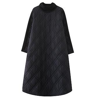 Long Women Coat Autunm And Winter Maxi Jackets Black Coats Female Outerwear