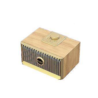 V5 bærbar trådløs Bluetooth-høyttaler, støtte håndfri & fm &tf-kort og aux og usb-stasjon (gull)