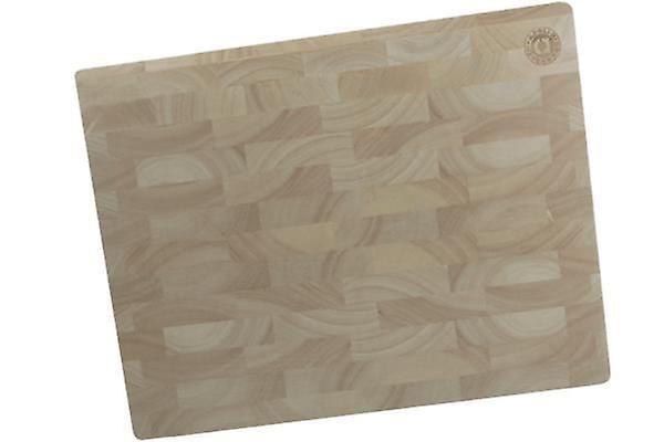 Rubber Wood Endgrain Block Butchers Chopping Cutting Board
