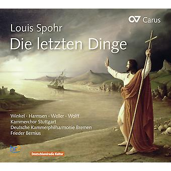 Spohr / Winkel / Harmsen / Weller / Wolff - Die Letzen Dinge [CD] USA import