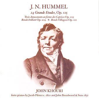 Johann Nepomuk Hummel - J.N. Hummel: 24 Grande Etudes, Op. 125; Etc. [CD] USA import