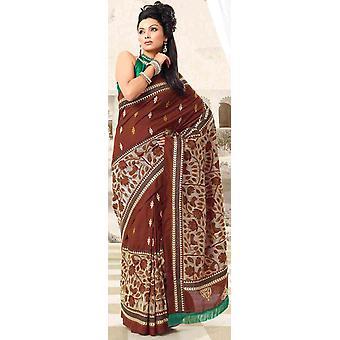 Durga festival Diwali part bære Sari Sari - Indien