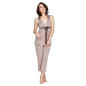 Mio Lounge Santiago Micro Modal Mocha Pyjamas Set  132C488M