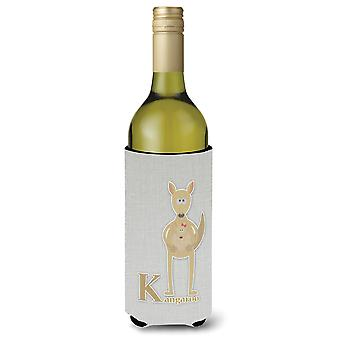 Alphabet K for Kangaroo Wine Bottle Beverge Insulator Hugger