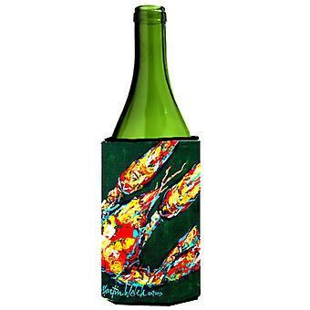 Craw Baby on Green Crawfish Wine Bottle Beverage Insulator Hugger
